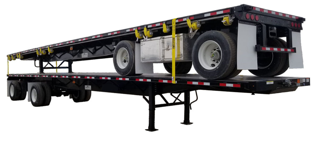 2 stack iso steel flatbed trailer from Transworld Equipment
