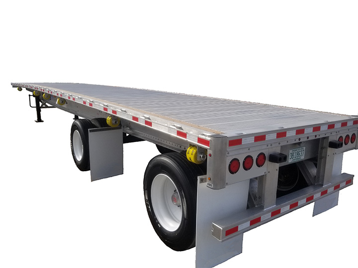 aluminum flatbed trailer from Transworld Equipment